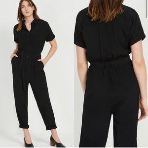 Frank & Oak Black Jumpsuit Short Sleeve Sz Medium
